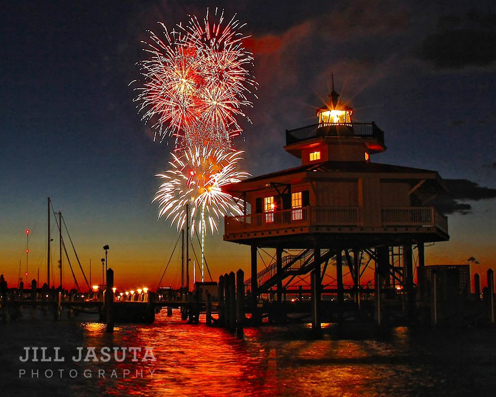 Jill Jasuta Photography Fireworks at the Lighthouse Watermark