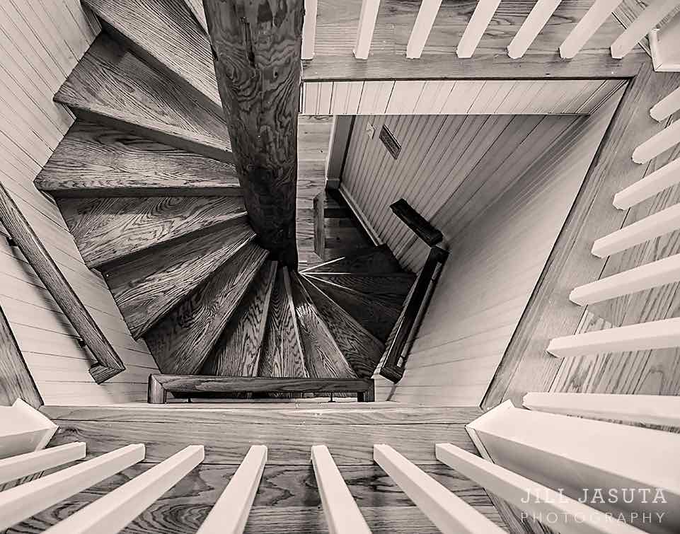 Jill Jasuta Photography Spiral Stair at Lighthouse
