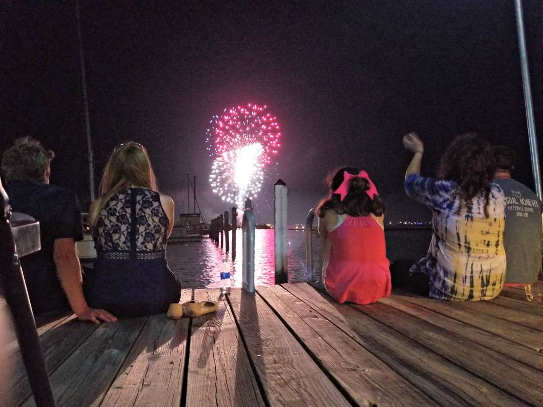 Fireworks at the Choptank River Lighthouse