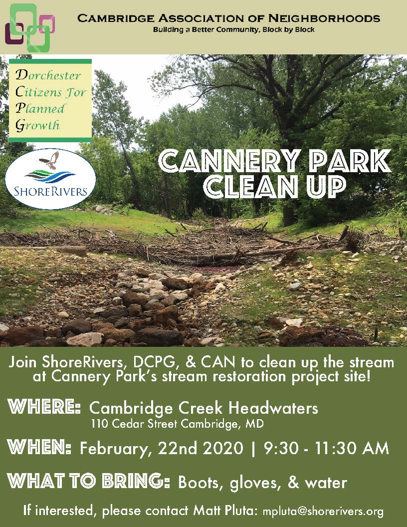 Cannery Park Cleanup 2020