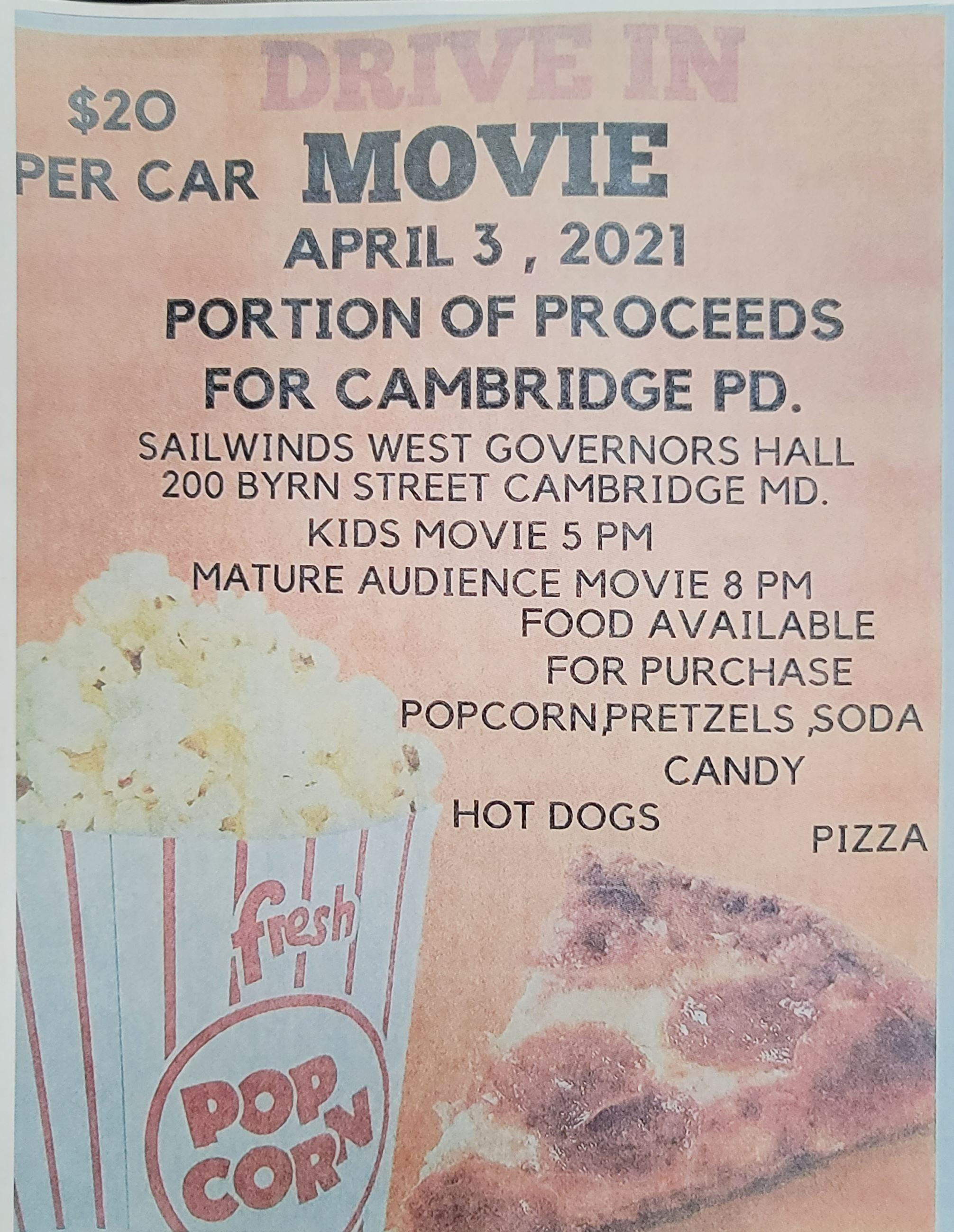Drive-In Movie Night Poster