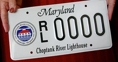 Choptank River Lighthouse license plate